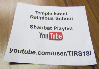 TI Religious School Shabbat Music Playlist